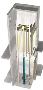 Estructura ascensor hidráulico