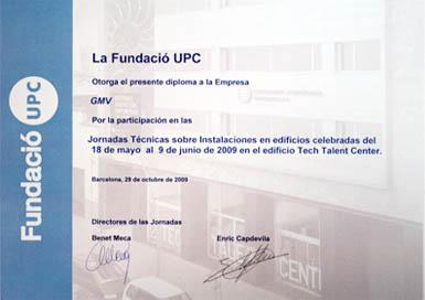 Diploma Fundación UPC - 2009