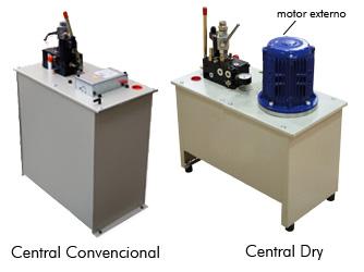 Central convencional - Central DRY (motor externo)