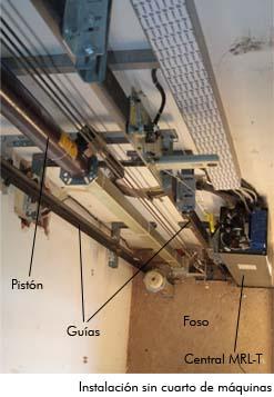 Instalación sin cuarto de máquinas (MRL)
