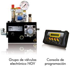 Grupo de válvulas electrónico NGV  /  Consola de programación