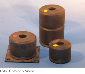 Amortiguador de caucho (elástico)